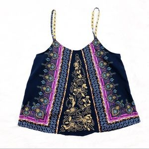 Gimmicks by BKE Buckle Embroidered Boho Top Size M